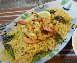 I'm back! Celebrating Jakob's 2nd month with LEMON SHRIMP SCAMPI