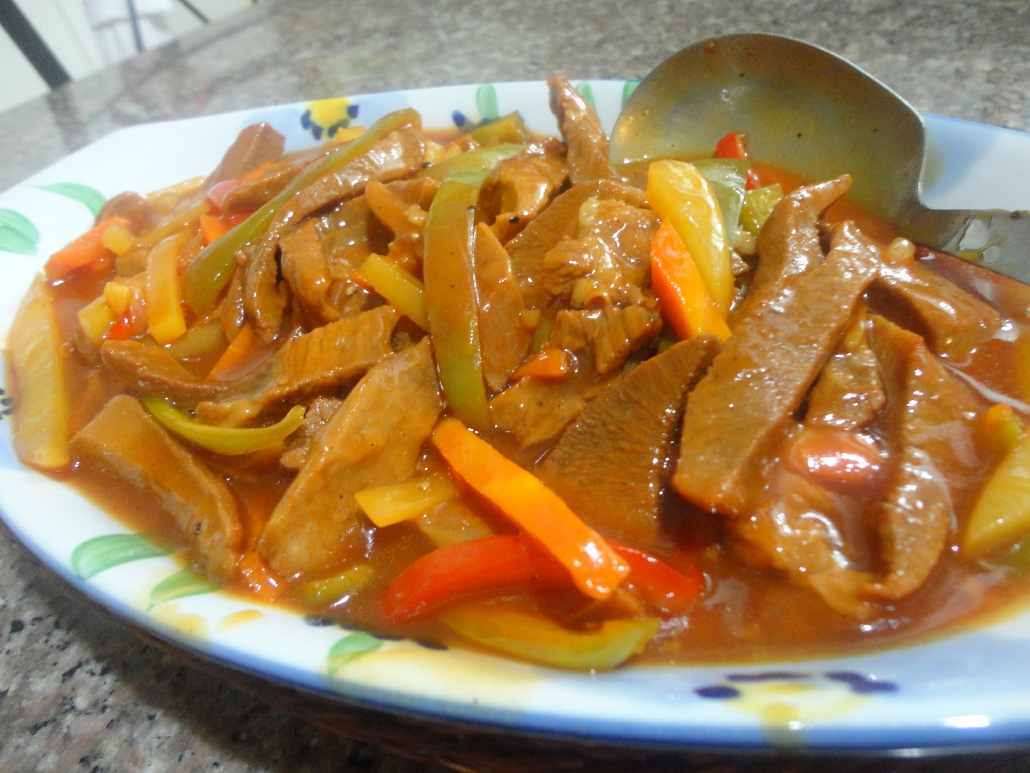 LENGUA CON SALSA (Ox tongue in Red Sauce)