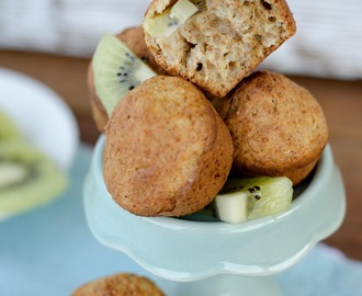 Browned Butter Kiwi and Bran Muffins