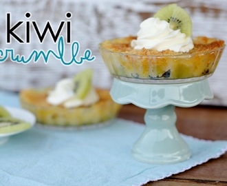 Kiwi Crumble - the best kiwi dish ever!