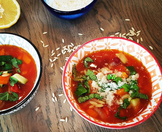 Minestronesuppe med risoni �