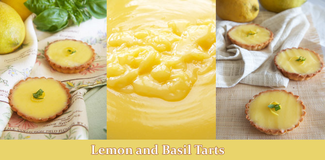 The Best Lemon and Basil Tarts