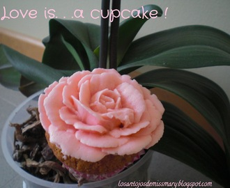 Love is . . . a cupcake !!