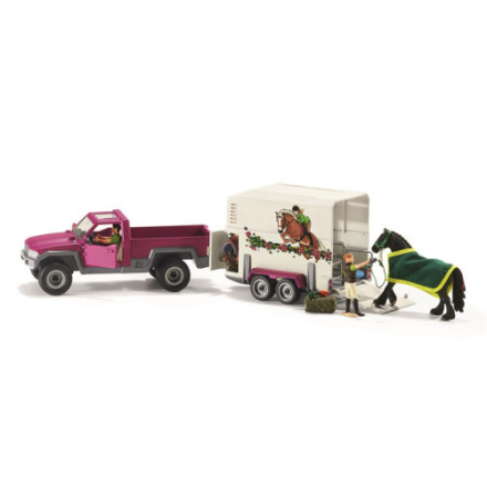 Schleich,Schleich Pickup med hästtransport 42346