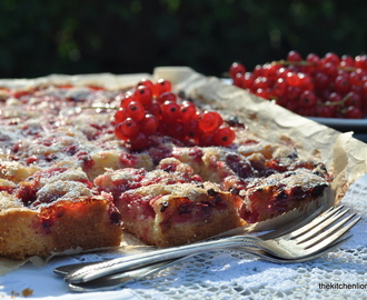 August Baking - Red Currant Summer Cake