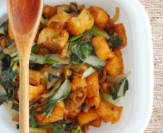 Stir fried Tofu and bok choy
