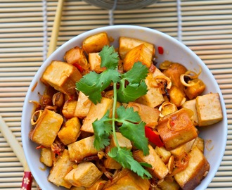 Fried Tofu with lemon grass