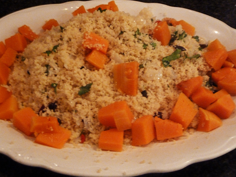 Couscous With Roast Pumpkin, Raisins And Almonds