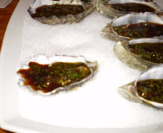 Oysters with Vietnamese Dressing