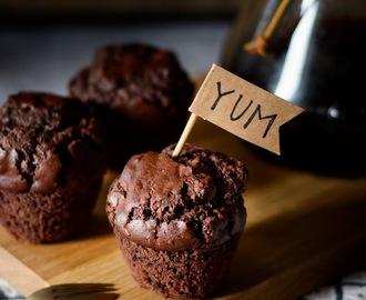 Big Double Chocolate Muffins