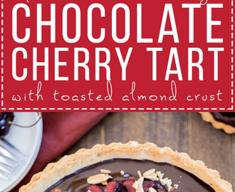Chocolate Cherry Tart (Gluten Free, Paleo + Vegan)