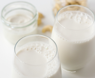 2 Ingredient Raw Cashew Milk