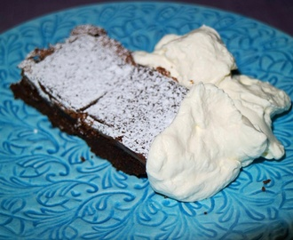 Brownies med after eight & päron