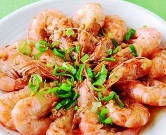 Garlic steamed shrimp