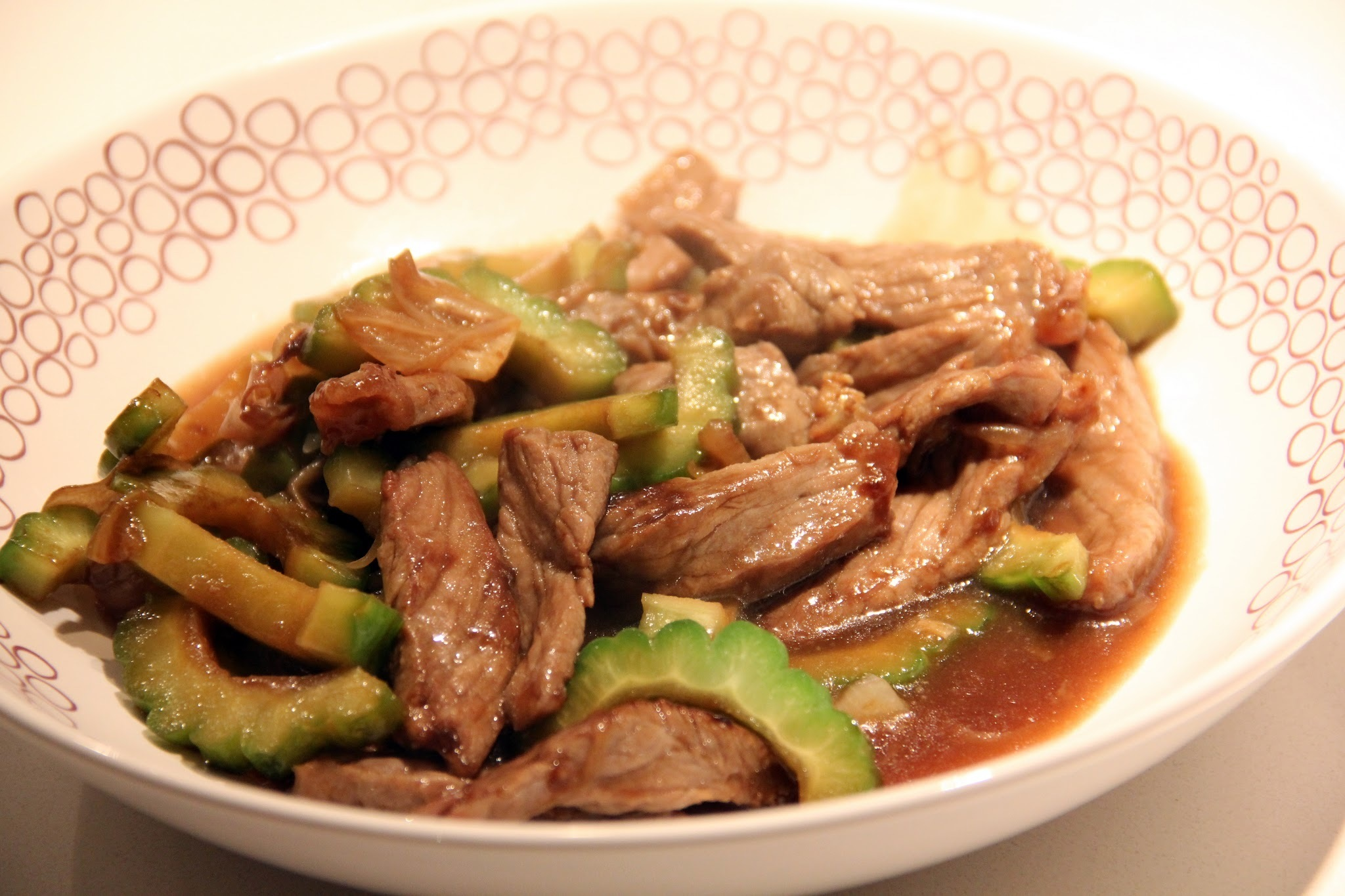 SAWCLicious Recipes: Beef with Bittergourd in Oyster Sauce ( Beef with Ampalaya)