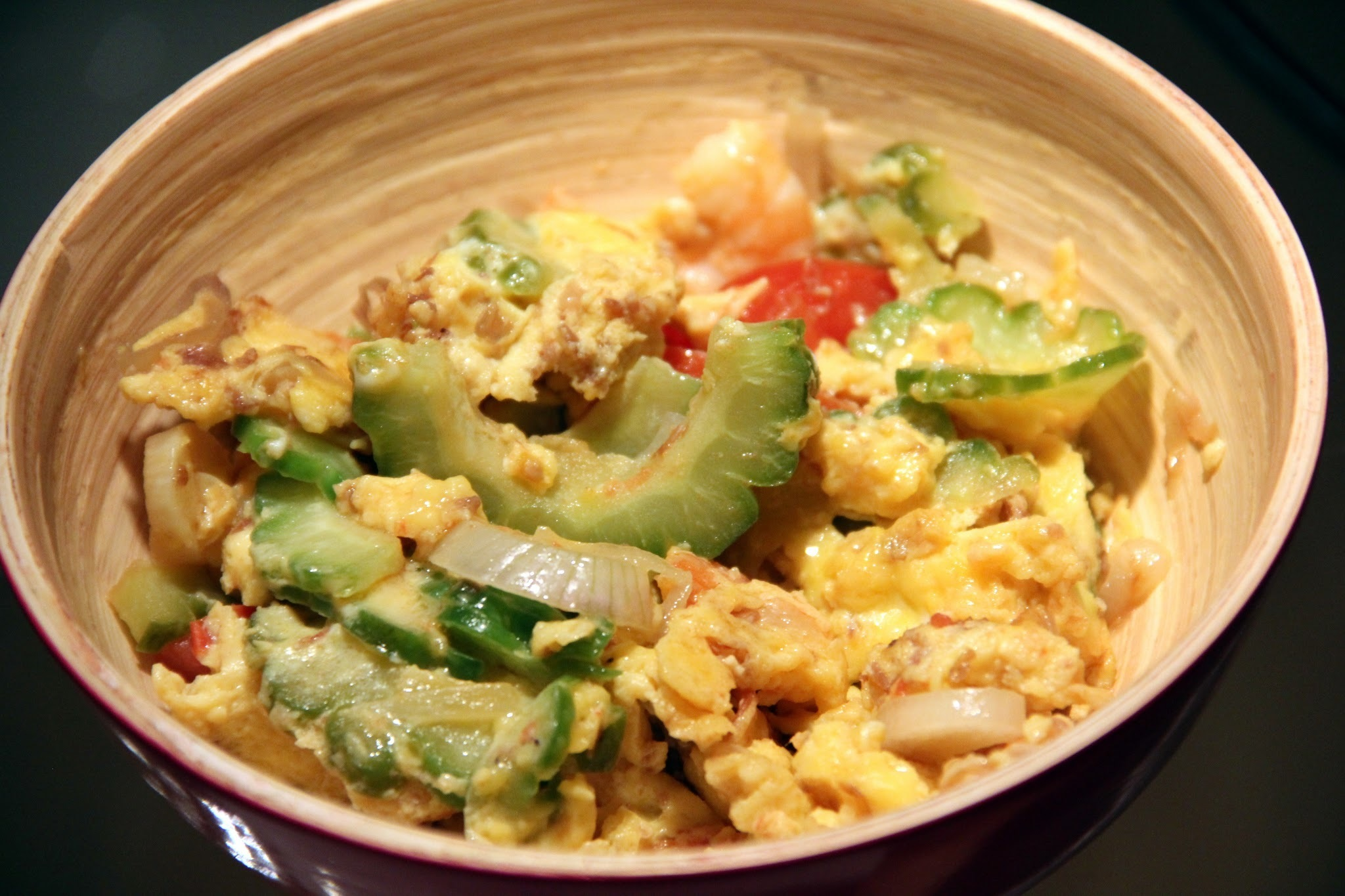 SAWCLicious Recipes: Bittergourd with Shrimps and Eggs (Ampalaya with Shrimps and Eggs)