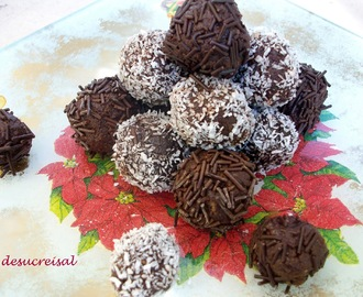 trufas de chocolate y licor de cerezas