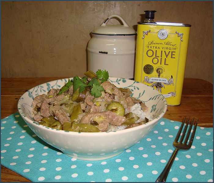 Thai green beef curry