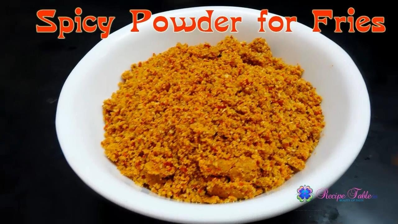 How to Prepare Spicy Powder for Tasty Fries (వేపుడు పొడి కారం)