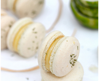 Lime curd macarons