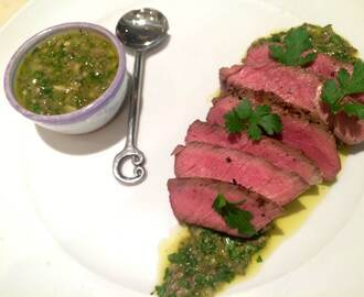 Grilled Rump Steak with Salsa Verde