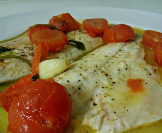 Filetto di branzino all'acqua pazza