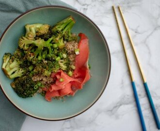 Broccoli zalm quinoa bowl