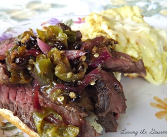Hot Pepper Chutney with Steak and Eggs Sandwich