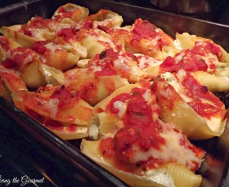 """Unique"" Stuffed Shells and Tomato Sauce"