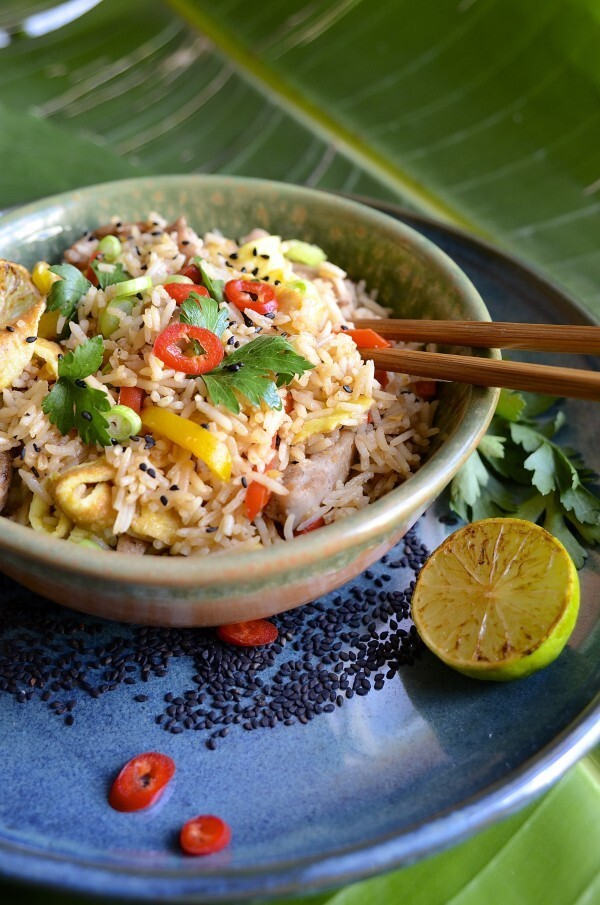 dianne wrote a new post, Fried rice with five-spice chicken, peppers and egg 'noodles', on the site bibbyskitchenat36.com