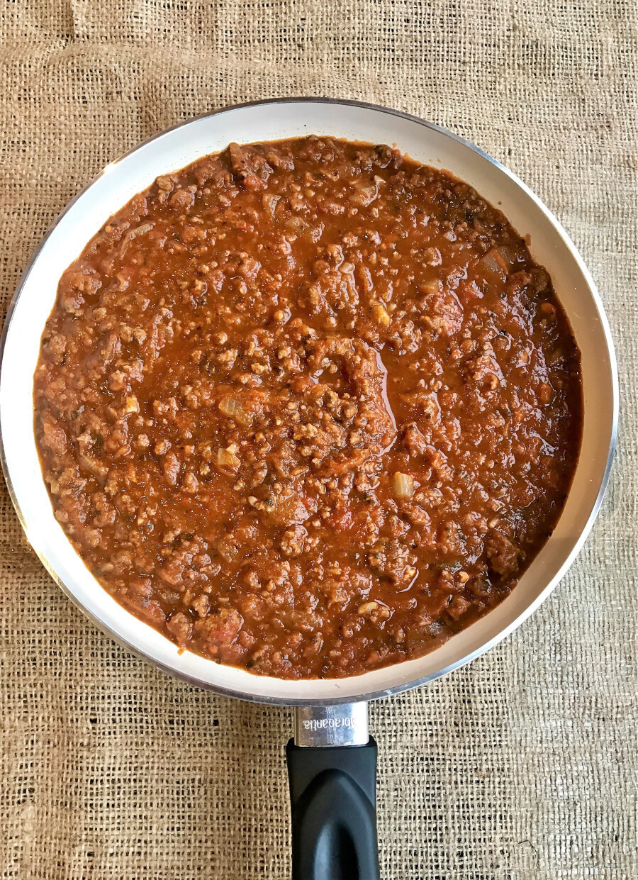 Veggie loaded mince sauce