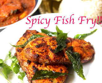 Spicy South Indian Style Fish Fry !!