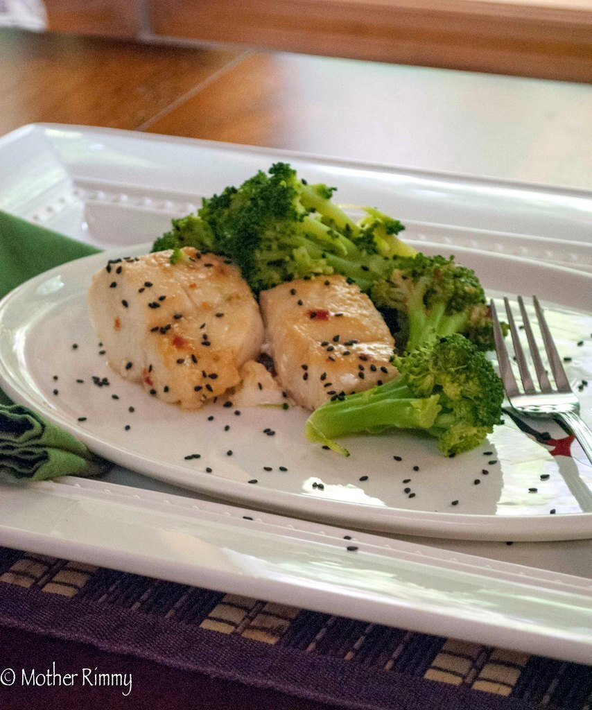 Cod and Broccoli with Miso Sauce