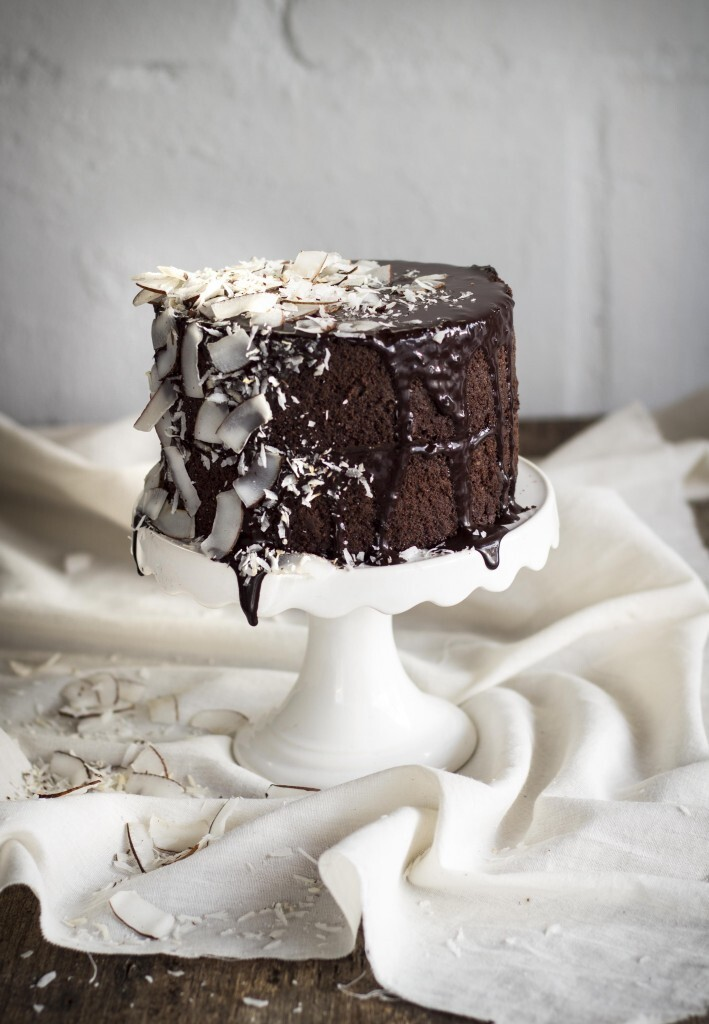 thekatetin wrote a new post, Dark Chocolate and Coconut Ganache cake (Gluten and Dairy-free), on the site The Kate Tin