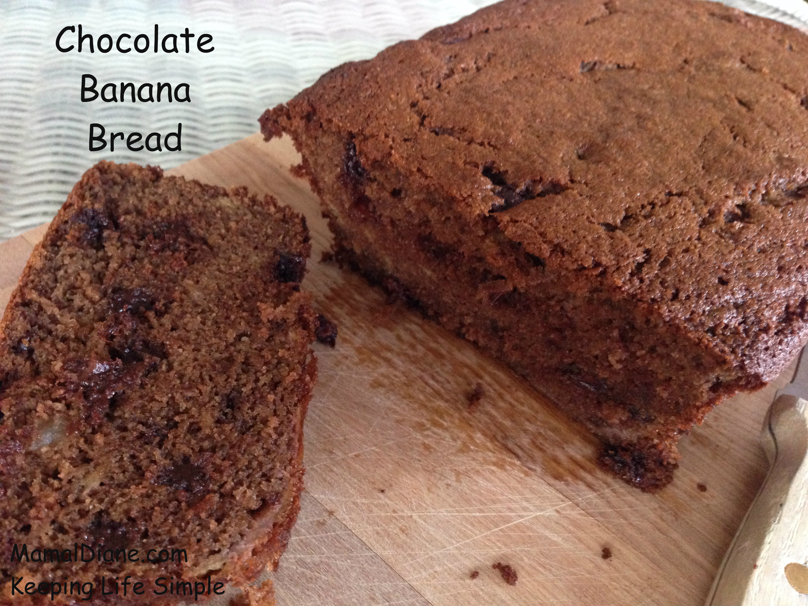 Chocolate Banana Bread with Carob Powder