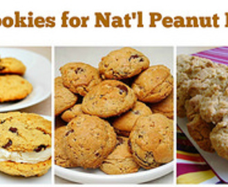 5 Peanut Butter Cookies for Nat'l Peanut Butter Cookie Day!