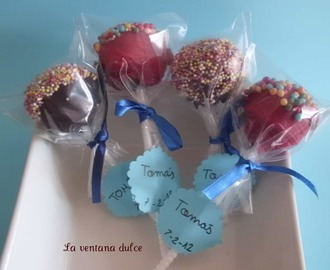 Galletas de Spiderman y cake pops