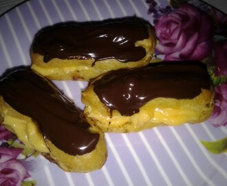 Custard Filled Eclairs