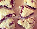 Chocolate and Raspberry Scones