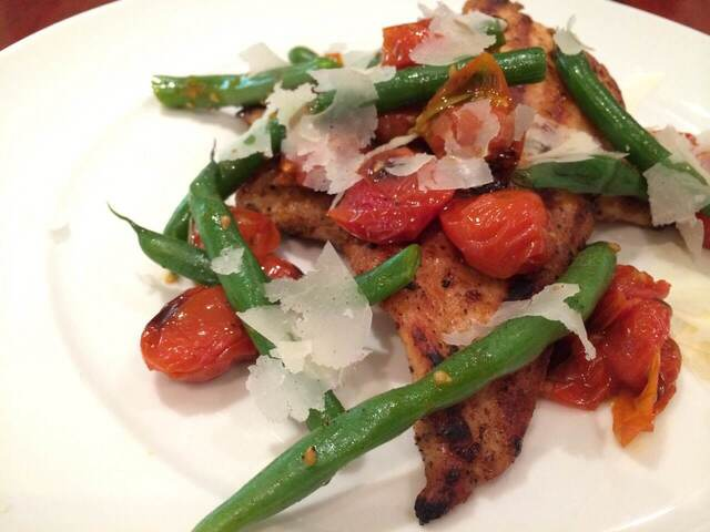 Grilled Chicken with a Warm Green Bean Salad