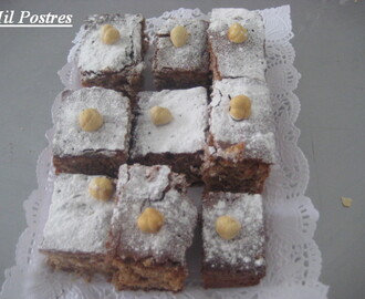 Brownies de chocolate con leche y avellanas