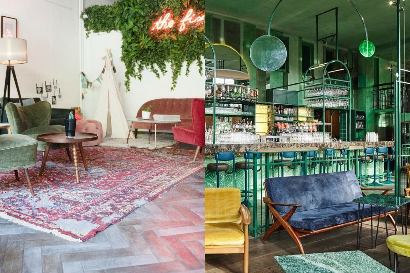 8 hipste hotspots met een tropisch 'urban jungle' interieur