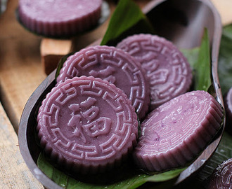 紫薯龟糕 【Purple Sweet Potato Angku Kuih】