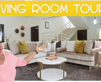 MY LIVING ROOM TOUR | MADE IN NIGERIA FURNITURE