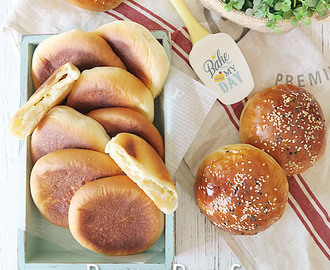 Cream Cheese Bun & Burger Bun using Japanese Yudane method