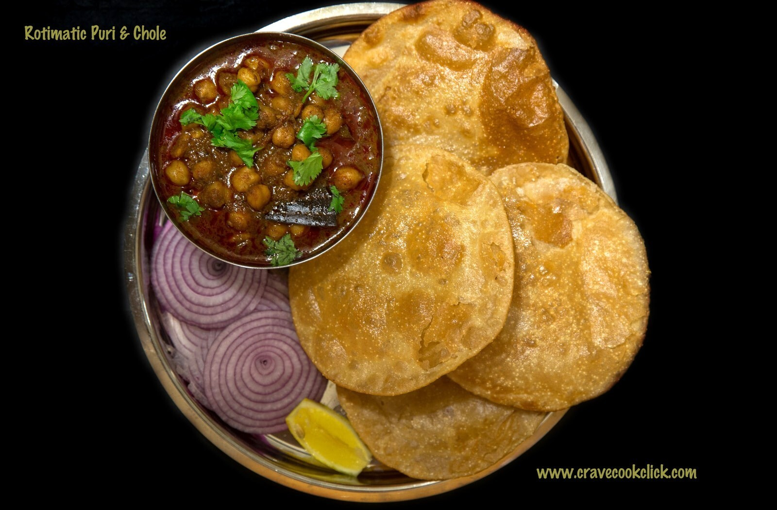 Rotimatic Puri and Chole Recipe, How to make puri with Rotimatic