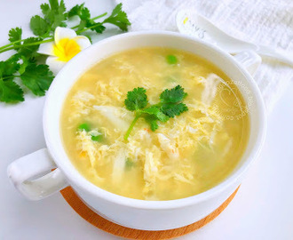 Crab Meat Egg Drop Soup 蟹肉蛋花汤