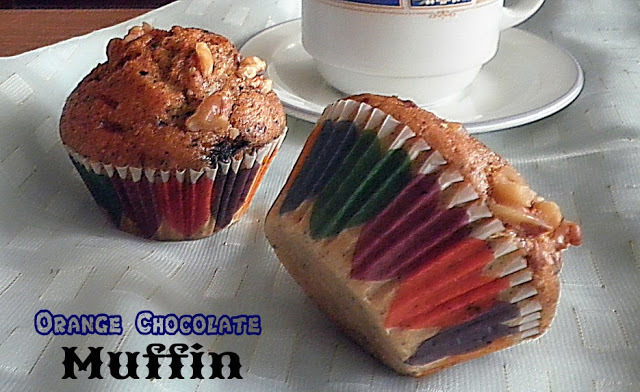 ORANGE CHOCOLATE  MUFFIN RECIPE