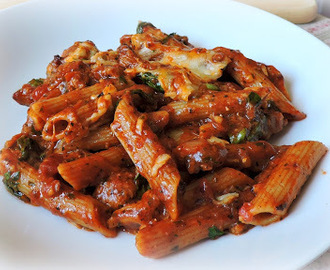 Spicy Tomato and Sausage Pasta
