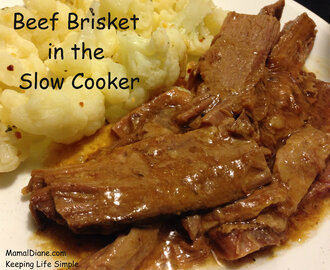 Beef Brisket in the Slow Cooker